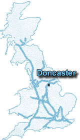 Motorway Map of the UK -- Doncaster